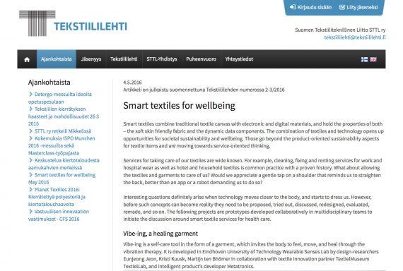 article Kristi front tekstiililehti